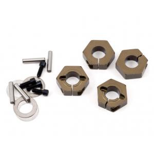 TKR5571A Tekno RC 12mm Aluminum Clamping Wheel Hex Set (4)