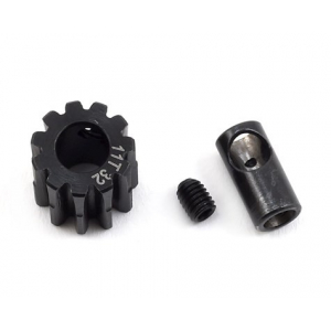 ProTek RC Steel (11T) 32P Pinion Gear w/3.17mm Reducer Sleeve (Mod .8) (5mm Bore)