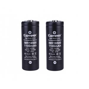Keeppower IMR18500 1100mAh 3,7V (2 vnt.)
