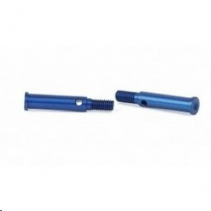 Aluminium Front Hub Carrier Axle blue (2pcs) - S10 Twister