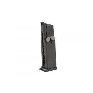 Low-Cap 15 BB Gas Magazine for WE Mak Replicas - Black
