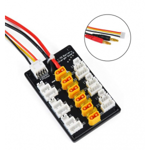 1S 2S 3S 20A XT30 Plug Lipo Battery Parallel Charging Board