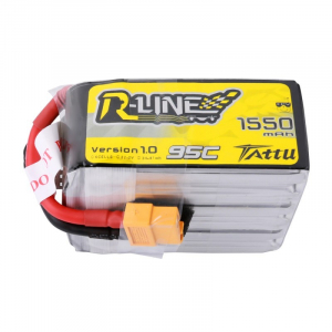 Tattu R-Line 1550mAh 95C 6S1P Lipo Battery Pack with XT60 plug for FPV Racing