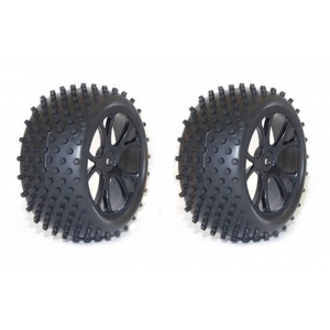FTX Rear Buggy Wheel and Tyre Set Black - Vantage