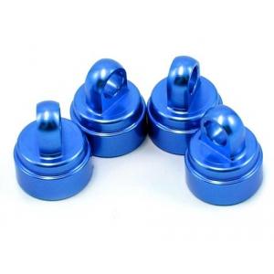 Traxxas Aluminum Ultra Shock Cap (Blue) (4)