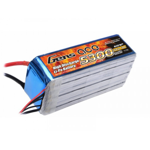 Gens ace 5300mAh 22.2V 30C 6S1P Lipo akumuliatorius