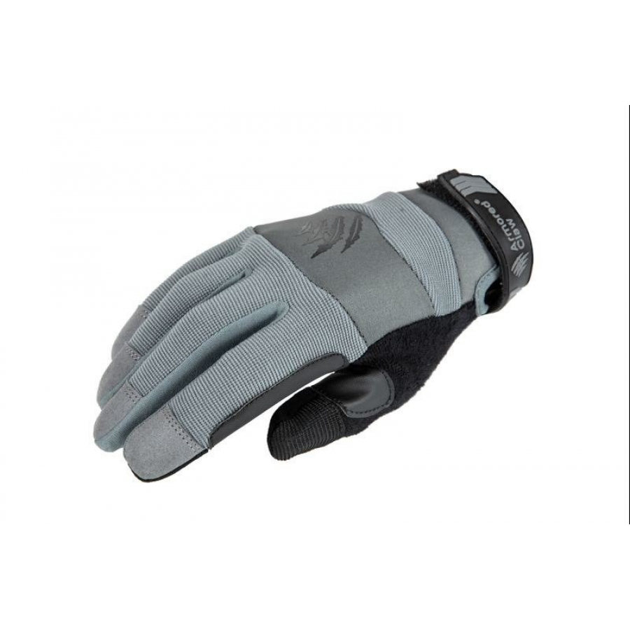 L  size Armored Claw Accuracy Tactical Gloves - Grey