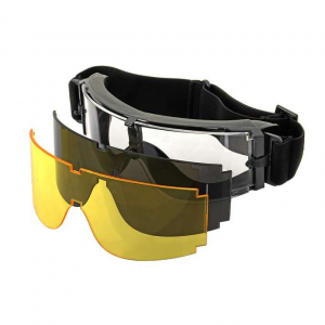 PANORAMIC VENTILATED GOGGLE (3 LENS KIT) - BLACK [PJ]