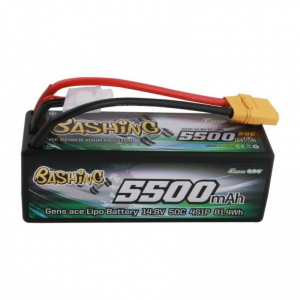 Gens ace bashing series 5500mAh 14.8V 50C 4S1P HardCase 14# car Lipo Battery pack with XT90