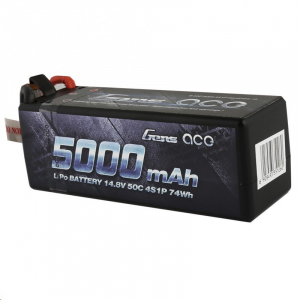 Gens ace 5000mAh 14.8V 50C 4S1P HardCase Lipo Battery 14# with new packing